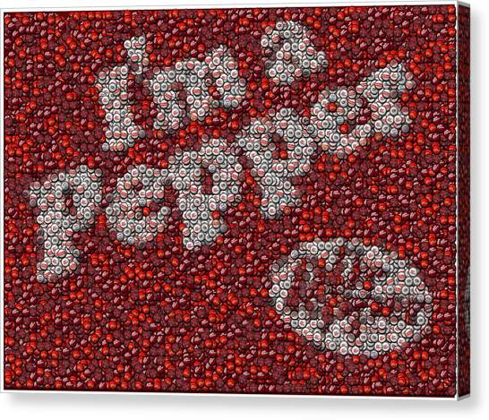Dr. Pepper Canvas Print - Dr. Pepper Bottle Cap Mosaic by Paul Van Scott