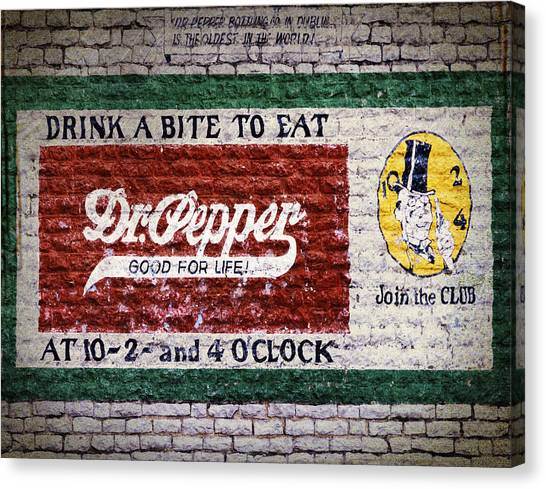 Dr. Pepper Canvas Print - Dr Pepper Good For Life by Joan Carroll