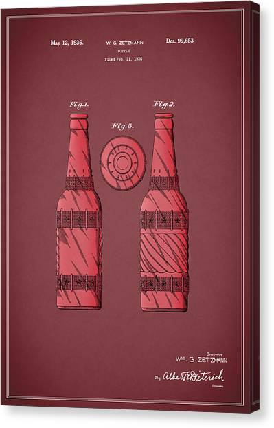 Pepsi Canvas Print - Dr Pepper Patent 1936 by Mark Rogan