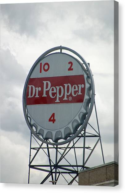 Dr. Pepper Canvas Print - Dr. Pepper Sign - Roanoke Virginia by Suzanne Gaff