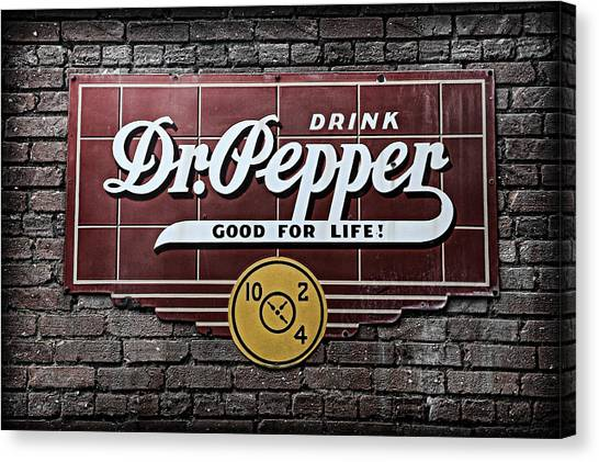 Dr. Pepper Canvas Print - Dr Pepper by Stephen Stookey