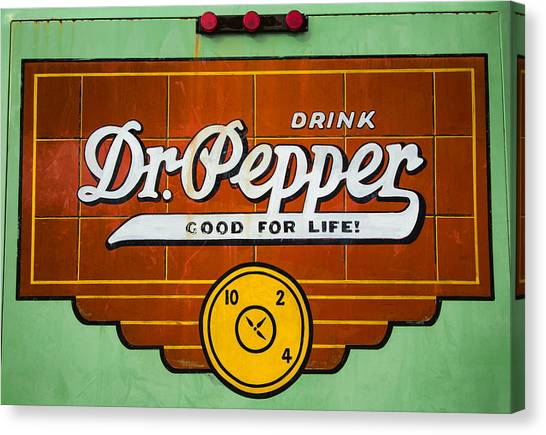 Dr. Pepper Canvas Print - Dr Pepper Truck Sign by Stephen Stookey