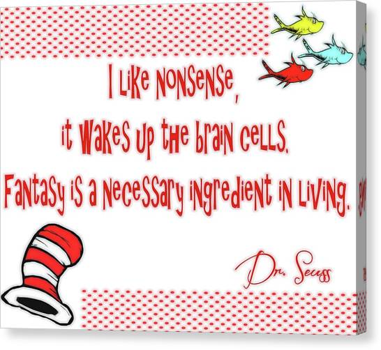 Cartoonist Canvas Print - Dr Seuss Inspiration by Dan Sproul