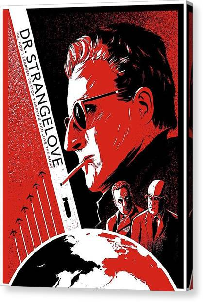 Dr. Strangelove Theatrical Poster Number Three 1964 Canvas Print