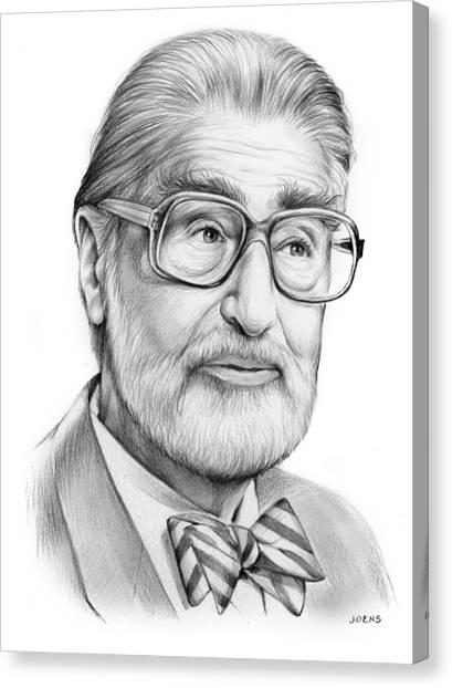 Books Canvas Print - Dr. Seuss by Greg Joens