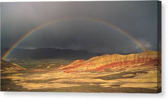Ashes Canvas Print - Painted Hills Rainbow by Leland D Howard