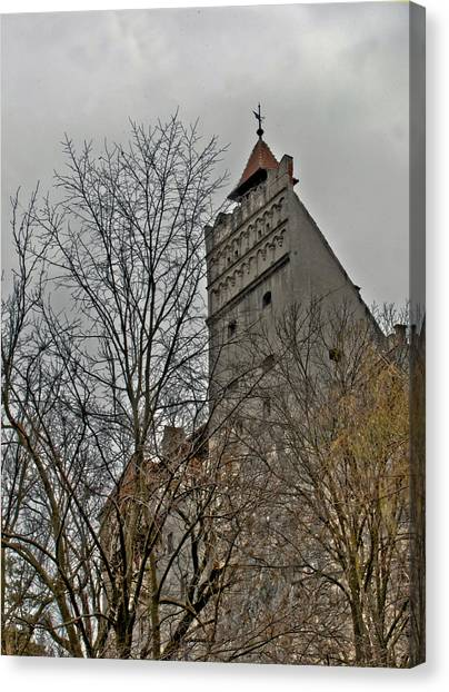 Dracula's Castle Transilvania In Hdr Canvas Print