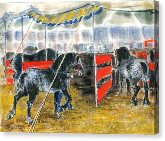 Drafts At The Fair Canvas Print by Mary Armstrong