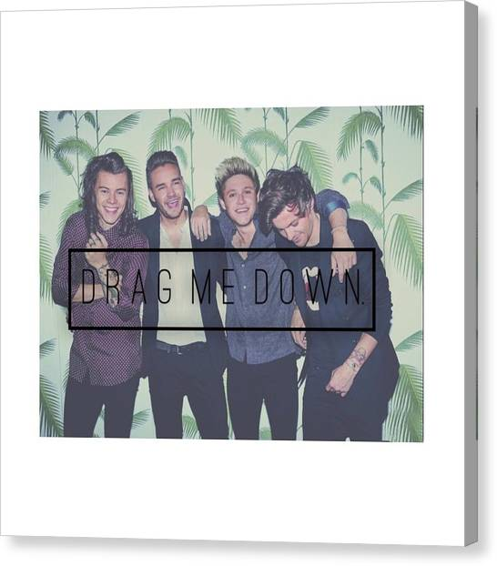 One Direction Canvas Print - Drag Me Down - One Direction  by Alexis  Casey