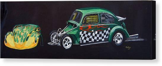 Drag Racing Vw Canvas Print