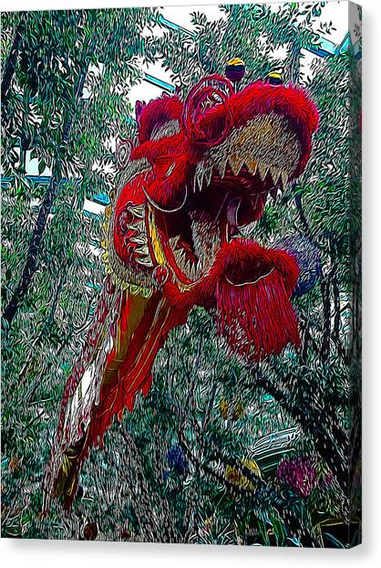 Lucky Canvas Print - Dragon Air Dance by Lucky Chen