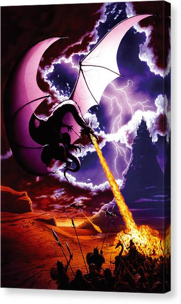 Dragons Canvas Print - Dragon Attack by The Dragon Chronicles - Steve Re