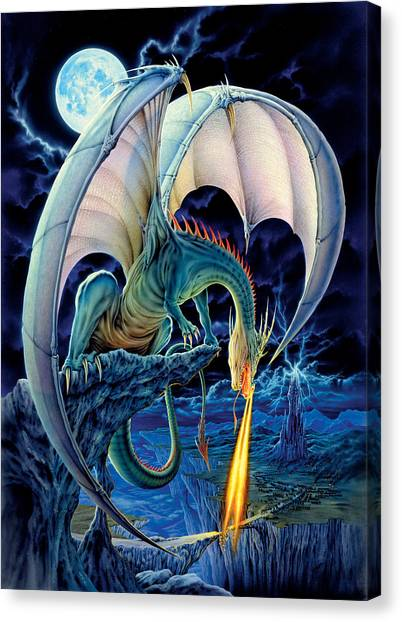 Fantasy Canvas Print - Dragon Causeway by The Dragon Chronicles - Robin Ko