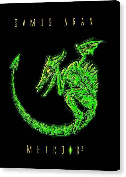 Metroid Canvas Print - Dragon by Dono Two