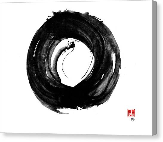 Dragon Enso Canvas Print