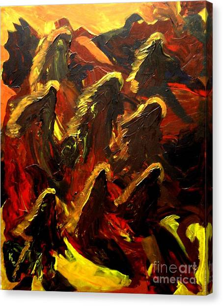 Dragon Fire Canvas Print by Karen L Christophersen