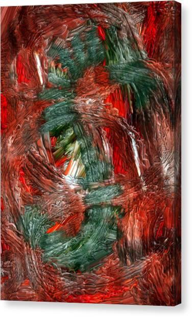 Dragon Fire Canvas Print by Nancy TeWinkel Lauren
