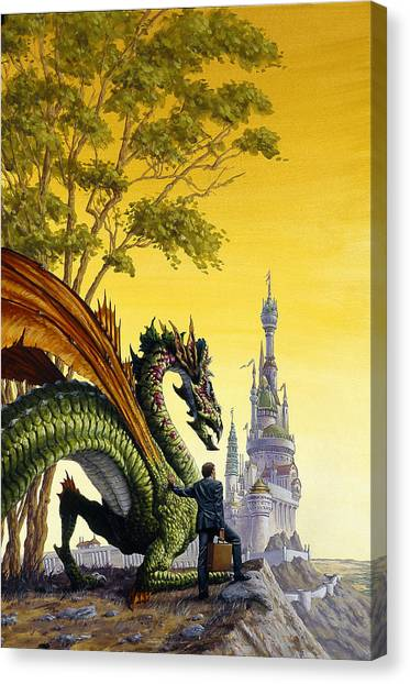 Dragon For Sale Canvas Print by Richard Hescox