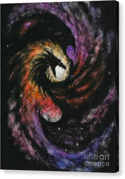 Dragon Galaxy Canvas Print