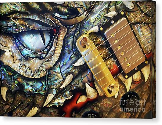 Dragon Guitar Prs Canvas Print