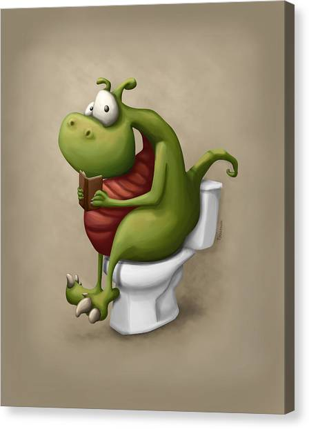 Humor Canvas Print - Dragon Number 2 by Tooshtoosh