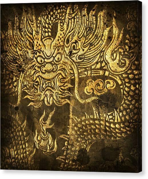 Beam Canvas Print - Dragon Pattern by Setsiri Silapasuwanchai