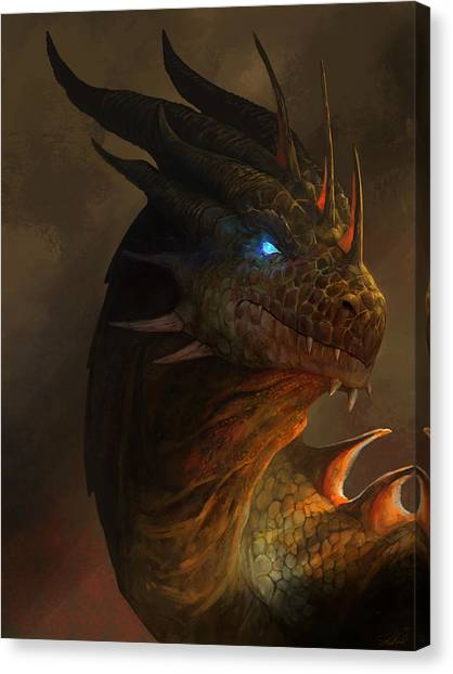 Dragon Portrait Canvas Print