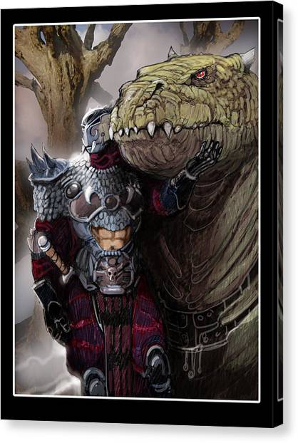Dragon Rider02 Canvas Print by Roel Wielinga