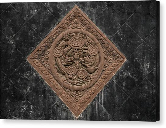 Canvas Print featuring the photograph Dragon Seal by William Dickman