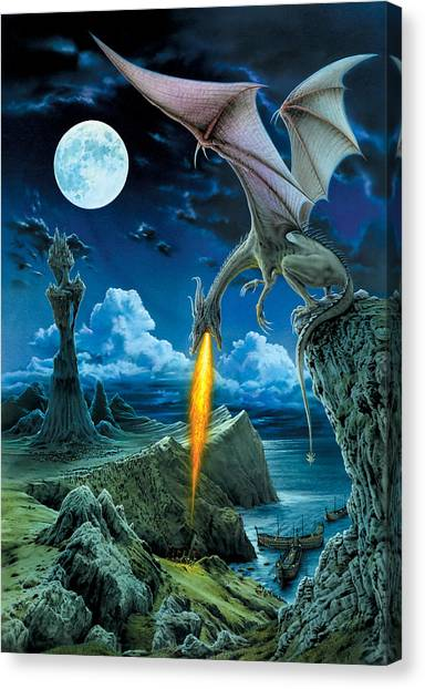 Fantasy Canvas Print - Dragon Spit by The Dragon Chronicles - Robin Ko