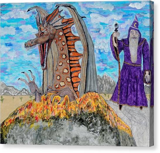 Dragon Summons. Canvas Print