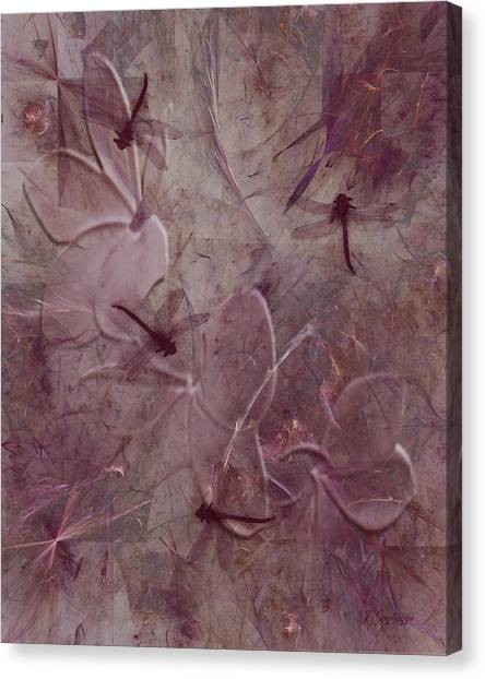 Dragonflies Canvas Print by Jean Gugliuzza