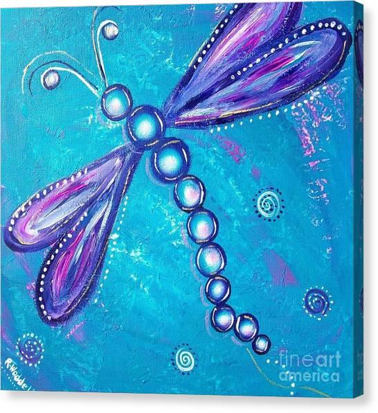 Dragonfly Bubble Art Canvas Print