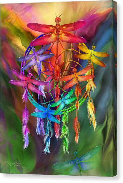 Catchers Canvas Print - Dragonfly Dreams by Carol Cavalaris