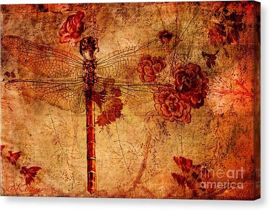 Dragonfly - Geisha Style Canvas Print
