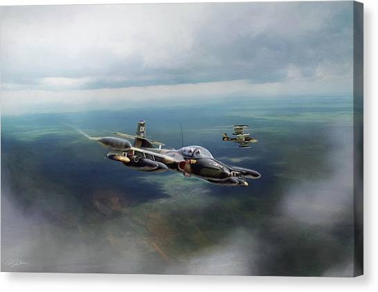 Cessnas Canvas Print - Dragonfly Special Operations by Peter Chilelli