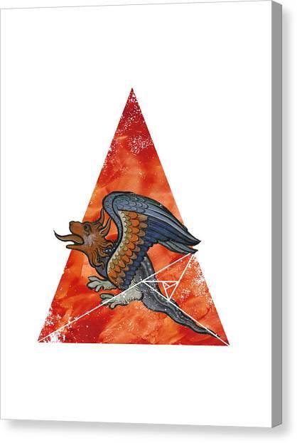 Rennaissance Art Canvas Print - Dragonometry 2 by Terry Fleckney