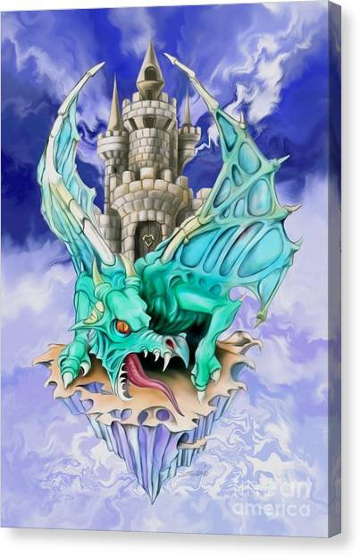 Dragons Keep By Spano Canvas Print