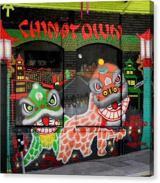 Dragons Of San Francisco Canvas Print