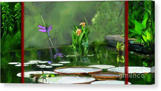 Dragons On The Pond Canvas Print