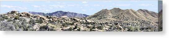 Dragoon Mountains Panorama Canvas Print by Sharon Broucek