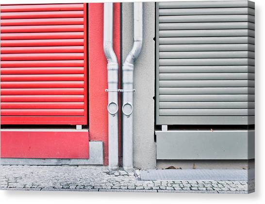 Drain Pipe Canvas Print - Drain Pipes by Tom Gowanlock