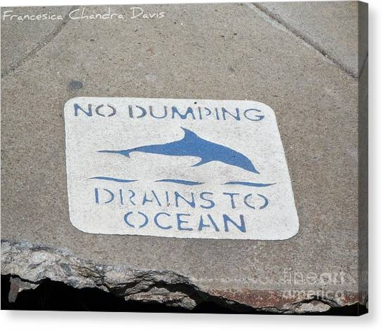 Drains To Ocean Canvas Print by Sacred  Muse