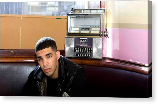Jukebox Canvas Print - Drake by Super Lovely