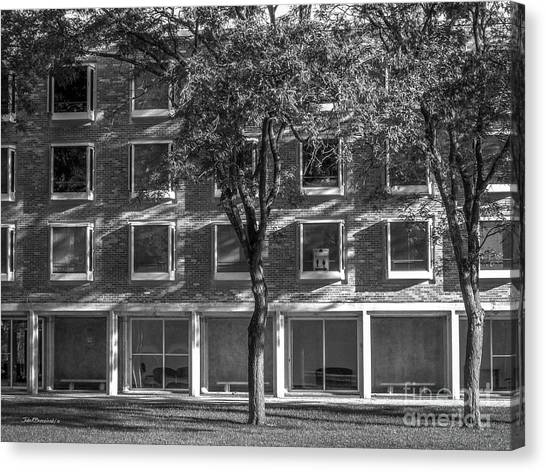 Drake Canvas Print - Drake University Goodwin Kirk Residence Hall by University Icons