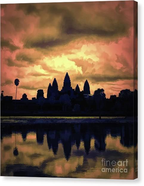 Dramatic Angkor Wat  Canvas Print