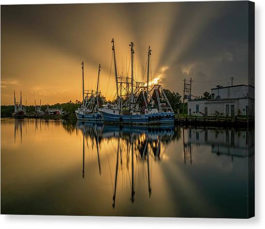 Dramatic Bayou Sunset Canvas Print