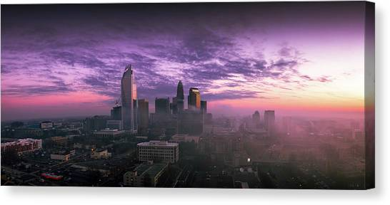 City Sunrises Canvas Print - Dramatic Charlotte Sunrise by Serge Skiba