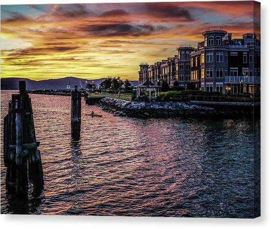 Dramatic Hudson River Sunset Canvas Print