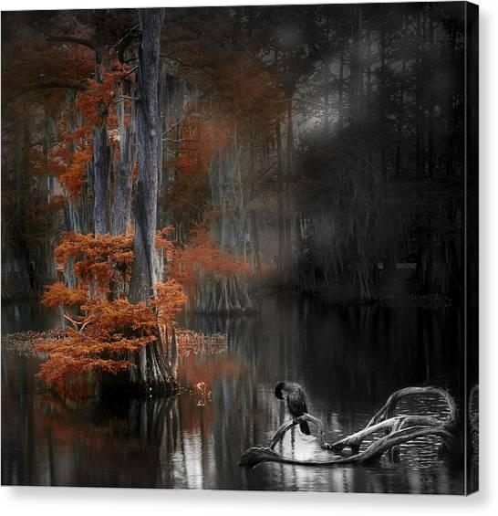 Dramatic Lake Canvas Print